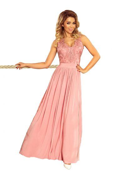 Numoco Dámské šaty 215-3 + Ponožky Sophia 2pack visone, pudrově růžová, S