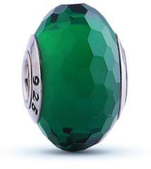 Infinity Love Koralik z zielonego szkła HGPL-069 srebro 925/1000