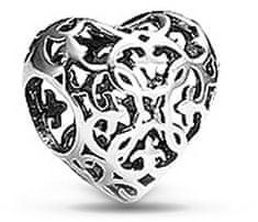 Infinity Love Srebrny koralik Filigranowe serce HS-694-D srebro 925/1000