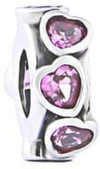 Infinity Love Separator srebrny z sercami HSZ-1262-D srebro 925/1000