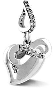 Infinity Love Srebrni obesek Neskončna ljubezen HSD-1640-D srebro 925/1000