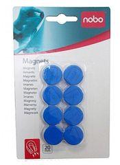 Nobo magnetki 1/8, 20mm, modri