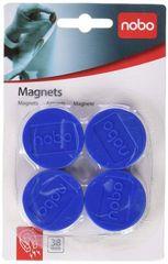 Nobo magnetki, 38mm, 1/4, modri