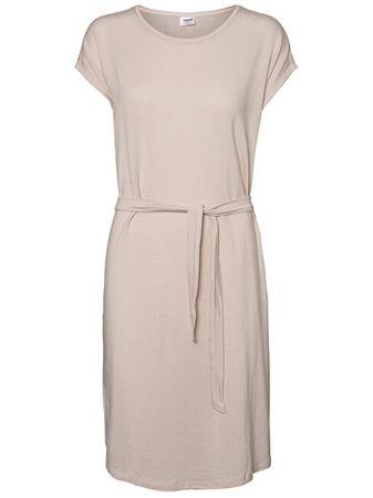 Vero Moda Sukienka damska Ava Plain Ss Knee Dress Vma Sepia Rose (rozmiar XS)