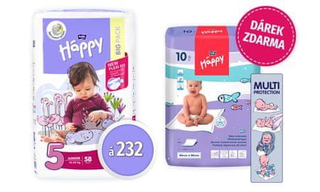 Bella Happy Junior Big Pack 5 Junior pelenka - 232 db