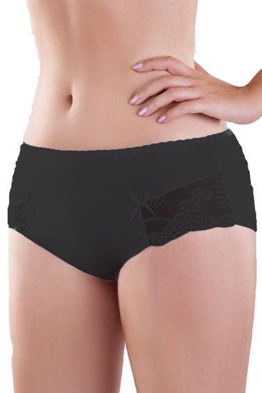 MoDo Dámske nohavičky 144 black + Nadkolienky Sophia 2pack visone, čierna, XXL