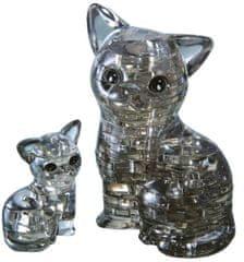 HCM Kinzel 3D Crystal puzzle Kočka s koťátkem 49 dílků