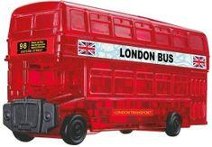HCM Kinzel 3D Crystal puzzle Londýnský autobus 53 dílků