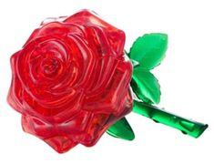 HCM Kinzel 3D Crystal puzzle Růže červená 44 dílků