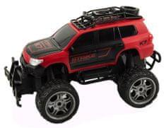 Teddies Auto RC terénní plast 30cm velká kola na dálkové ovládání červené