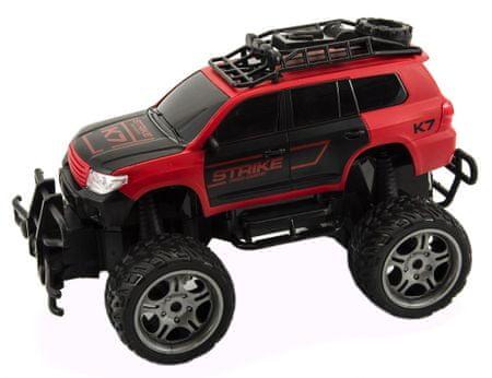 Teddies Auto RC műanyag terepjáró 30 cm, nagy kerekek, távvezérlés, piros