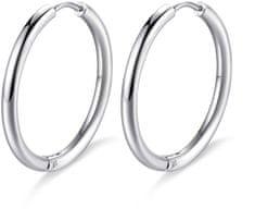 S'Agapõ Acél kör alakú fülbevalók Happy Ears SHEA02