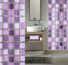 Kleine Wolke zasłona prysznicowa PEVAS SONNY 180 x 200 cm, fioletowa