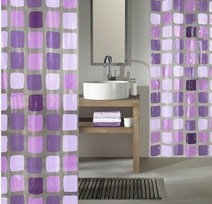 Kleine Wolke Sprchový PEVA závěs SONNY 180 x 200 cm fialová