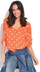 100% Lin dámský top oranžová