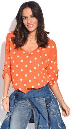 100% Lin dámský top 36 oranžová