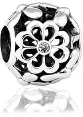 Infinity Love Koralik srebrny z kwiatami HSZ-182-WD srebro 925/1000