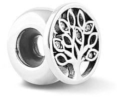 Infinity Love Srebrny hamulec kulkowy z drzewem życia HSZ-1182-D srebro 925/1000