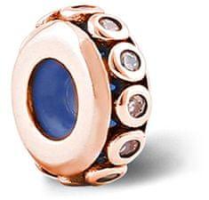 Infinity Love Stříbrný korálek brzdička HSZ-1184-ROSE stříbro 925/1000