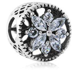 Infinity Love Błyszczące Srebrny Koralik HSZ-358-D srebro 925/1000