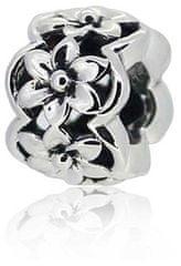 Infinity Love Separator srebrny z kwiatami HS-1116-D srebro 925/1000