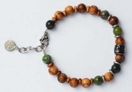 Green Time Karkötő fából készült gyöngyökből és jade ZWB219D-ből