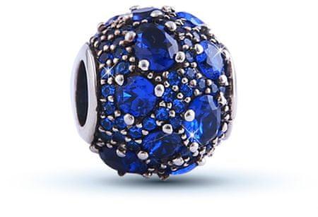 Infinity Love Kraljevsko modra srebrna kroglica HSZ-324 srebro 925/1000