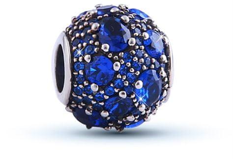 Infinity Love Kráľovsky modrý strieborný korálku HSZ-324 striebro 925/1000