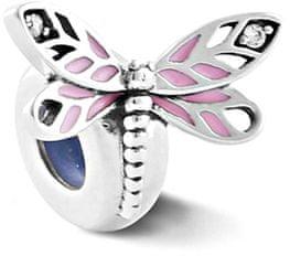 Infinity Love Srebrny hamulec kulkowy z ważką HE-900-D srebro 925/1000