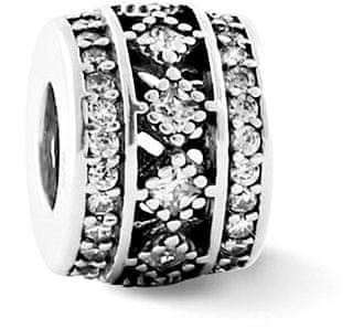 Infinity Love Srebrny mieniący się koralik HSZ-1171-D srebro 925/1000