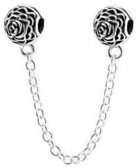 Infinity Love Bezpieczeństwo Łańcuch z kwiatami HCL-093-D srebro 925/1000
