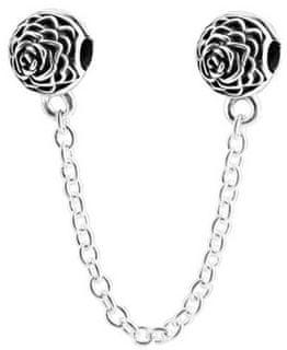 Infinity Love Varnostna veriga s cvetjem HCL-093-D srebro 925/1000