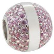 Infinity Love Koralik srebrny z fioletowymi kryształkami HSZ-836-PS srebro 925/1000