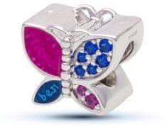 Infinity Love Stříbrný motýlkový korálek HSZ-1163-D stříbro 925/1000