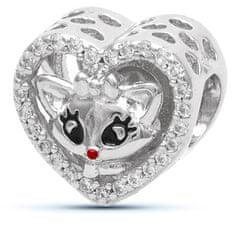 Infinity Love Koralik z kotem HSZ-1162-D srebro 925/1000