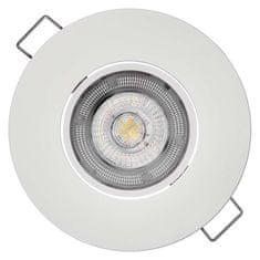 EMOS LED bodové svietidlo Exclusive biele, 8 W neutrálna biela