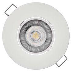 EMOS LED bodové svietidlo Exclusive strieborné, 5W teplá biela