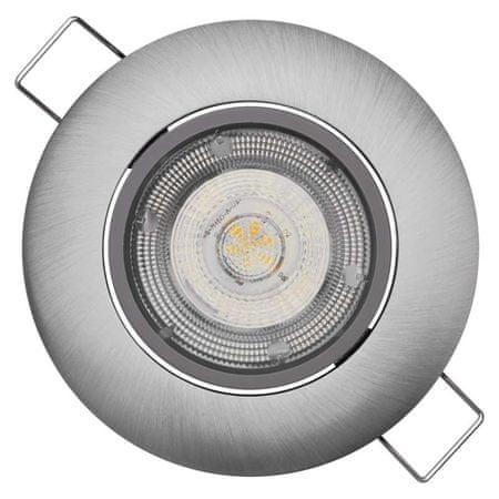 Emos LED bodové svítidlo Exclusive stříbrné, 5W neutrální bílá