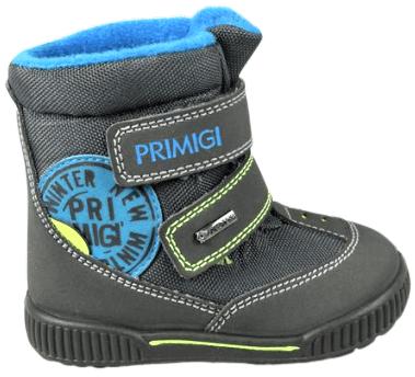 Primigi chlapecká zimní obuv 22 šedá/modrá