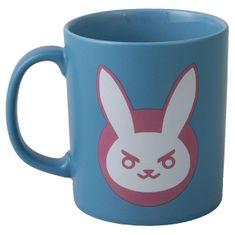 J!NX Overwatch D. VA Ceramic, skodelica, modra/roza