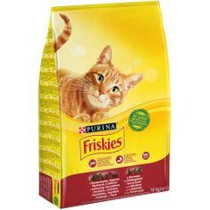 Friskies krma za mačke z govedino, piščancem in zelenjavo, 10 kg
