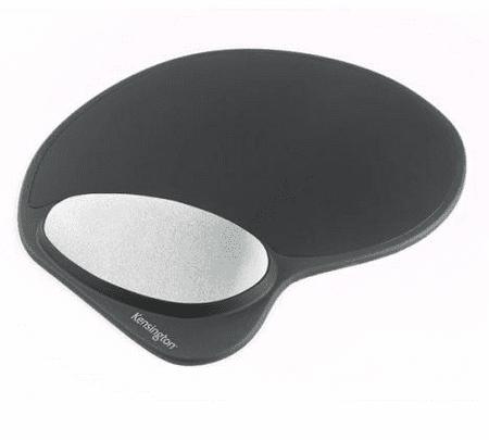 Kensington podloga za miško, s počivalom zapestja, črna