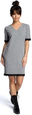BeWear ženska obleka, S, siva