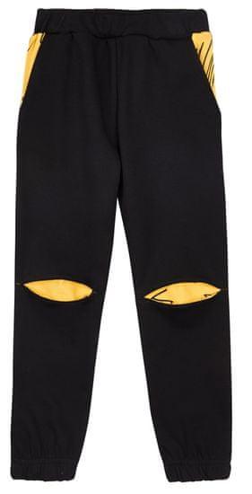 Garnamama detské tepláky Fox and Roll 98/104 čierna / žltá