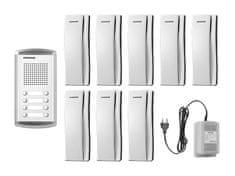 COMMAX DR-8AM/DP-SS/RF-1A, sada domácích telefonů pro 8 uživatelů, systém 4+n, vč. zdroje,