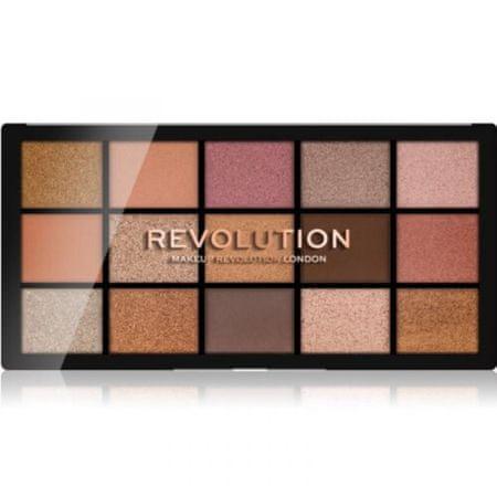 Makeup Revolution Paletka očních stínů Revolution Re-Loaded Fundamental 15 x 1,1 g