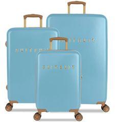 SuitSuit TR-7105/3 komplet potovalnih kovčkov Fab Seventies Reef Water Blue