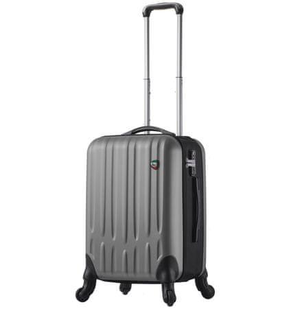 Mia Toro Cestovní kufr M1301/3-S - stříbrná