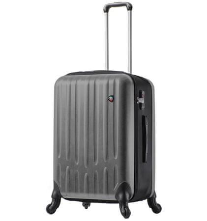 Mia Toro Utazó bőrönd M1301/3-M - ezüst