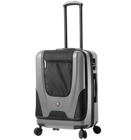 Mia Toro Utazó bőrönd M1325/3-M ezüst